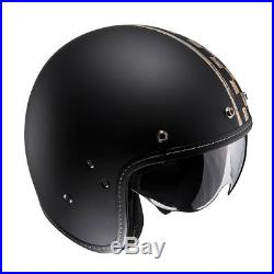 HJC FG-70S Vintage Burnout Black Open Faced Motorcycle Helmet XL