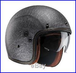 HJC FG-70S Vintage Flat Black Open Face Motorcycle Crash Helmet New RRP £159.99