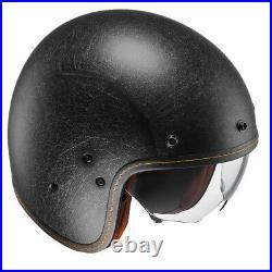 HJC FG-70S Vintage Flat Black Open Faced Motorcycle Helmet