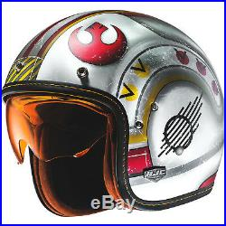 HJC FG-70S X-Wing Fighter Pilot Open Face Motorcycle Helmet Star Wars Jet Urban
