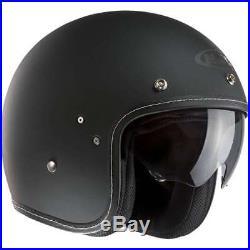 HJC FG-70s MC1 Open Face Motorcycle Bike Crash Helmet Sun Visor Matt Black Large