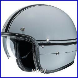 HJC FG 70s Retro Classic Motorcycle Motorbike Open Face Helmet Ladon Grey