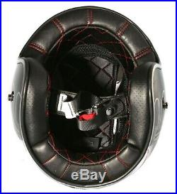 Harley Davidson Elite Retro Open Face Helmet, Black, 98307-14E, Small= 54cm-55cm