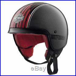 Harley Davidson Jet Open Face Helmet 5/8 Knab Silver 98351-19EX
