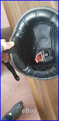 Harley Davidson open faced Bell Motorcycle Helmet size Medium