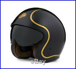 Harley-davidson Bougie Black & Gold Open Face Helmet 98174-20ex Large