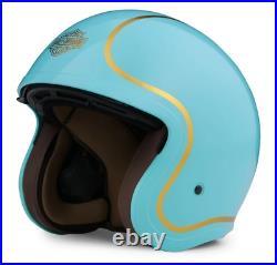 Harley-davidson Bougie Gloss Teal & Gold Open Face Helmet 98175-20ex Medium