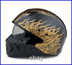 Harley-davidson Goldusa 2-in-1 X07 Open Face Black/gold Helmet 98190-20ex XXL