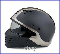 Harley-davidson Sport Glide 2-in-1 X07 Open Face Grey Helmet 98176-20ex XL