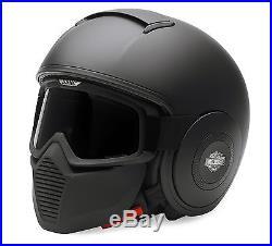 Harley-davidson Swat Helmet Shark Raw Open Face Goggles Mask Matte Black