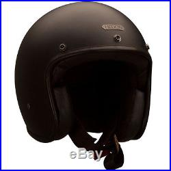 Hedon Hedonist Coal Black Open Face Retro Classic Motorbike Motorcycle Helmet