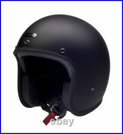 Hedon Hedonist Coal/Matt Black Open Face Retro Classic Motorcycle Helmet