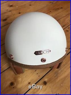Hedon, Hedonist Creme, Cream Open Face Retro Classic Motorbike Motorcycle Helmet