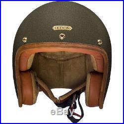 Hedon Hedonist Empire Bronze Open Face Retro Classic Motorcycle Bike Helmet