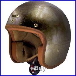 Hedon Hedonist Gladiator Bronze Open Face Retro Classic Motorcycle Bike Helmet