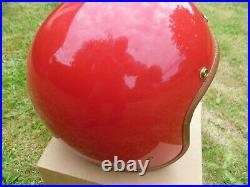 Hedon Hedonist L Red Open Face Retro Classic Motorcycle Helmet c/w box & bag
