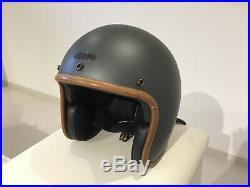 Hedon Hedonist Medium Ash Grey Open Face Classic Motorbike Motorcycle Helmet