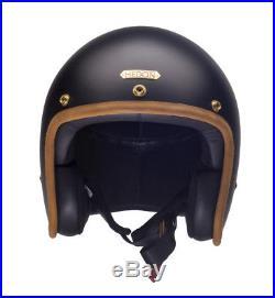 Hedon Hedonist Stable Black Open Face Motorcycle Helmet NEW RRP £309