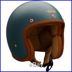Hedon Hedonist Teal Blue Open Face Retro Classic Motorbike Motorcycle Helmet