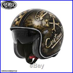 Helmet Premier VINTAGE EVO OP 9 BM L Open Face Motorbike Size L