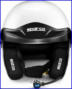 Helmet Sparco Pro RJ-3i Intercom Open Face FIA SNELL Jet White Rally
