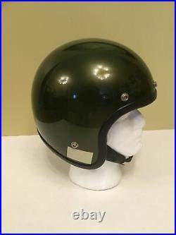 Hondaline Stag Vintage 1973 Open Face Motorcycle Helmet Rare Green sz M honda