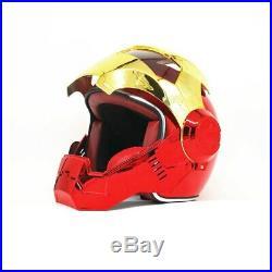 IRON MAN helmet motorcycle Masei open face casque Motocross Off Road Red
