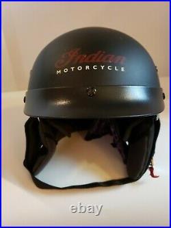 Indian Motorcycle Helmet Sz Medium Open Face