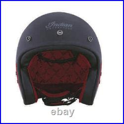 Indian Motorcycle Retro Open Face Helmet with Stripe and Checker