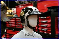 Indian Motorcycle Two Tone Open Face Helmet Black Silver