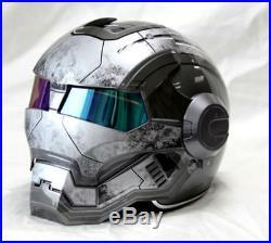 Iron Man Helmet Motorcycle Half Open Face Helmet Motocross Masei Gray