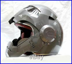 Iron Man Motorcycle Helmet Masei Open Face Half Helmet Motocross High Quality