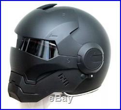 Iron Man Style Helmet Motorcycle Half Open Face Helmet Motocross Masei Gray