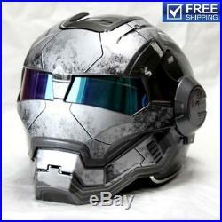 Iron Man motorcycle helmet Masei retro half helmet open face casque motocross