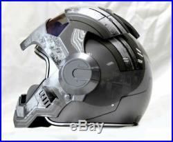Iron man motorcycle helmet Masei open face half helmet High quality