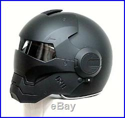 Iron man motorcycle helmet Masei open face half helmet US DOT Standard