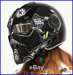Iron motorcycle helmet Masei man open face half helmet US DOT Standard