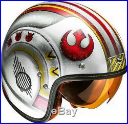 Is-5 Star Wars X-wing Rebel Fighter Pilot Retro Open Face Hjc Helmet