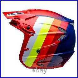 Jitsie Ht2 Voita Trials Bike Open Face Helmet. Great Quality. Red / Blue