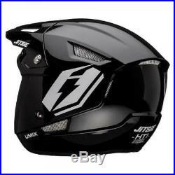 Jitsie Umix Trials Bike Open Face Helmet. Black. Great Quality. Brand New
