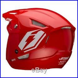 Jitsie Umix Trials Bike Open Face Helmet. Red. Great Quality. Brand New