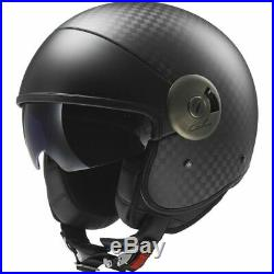 LS2 Cabrio Carbon Open Face Helmet Carbon Fiber