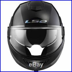 LS2 FF399 Valiant Motorcycle Motorbike Helmet Flip Front Open Face NOIR 180º