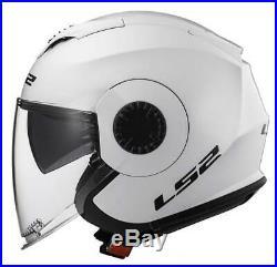 LS2 Helmets Open Face Verso Motorcycle Helmet Solid Matte Titanium 570-103