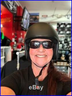 Lowest Profile Open Face Helmet Matt Australian Approved Harley Biker Bobber