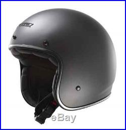 Ls2 Of583 Open Face Low Profile Motorbike Custom Bobber Jet Helmet Titanium