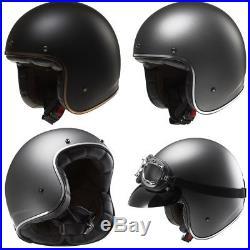 Ls2 Of583 Open Face Low Profile Motorcycle Motorbike Custom Bobber Crash Helmet