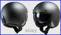 Ls2 Of601 Bob Bobber Carbon Open Face Helmet Medium