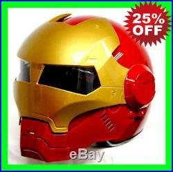 MASEI Iron Man helmet motorcycle helmet half helmet open face red 610 M L XL