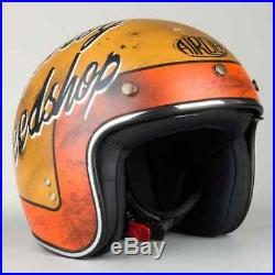 M Medium AIROH Riot Skullboy Speedshop Motorbike Helmet Open Face w Visor